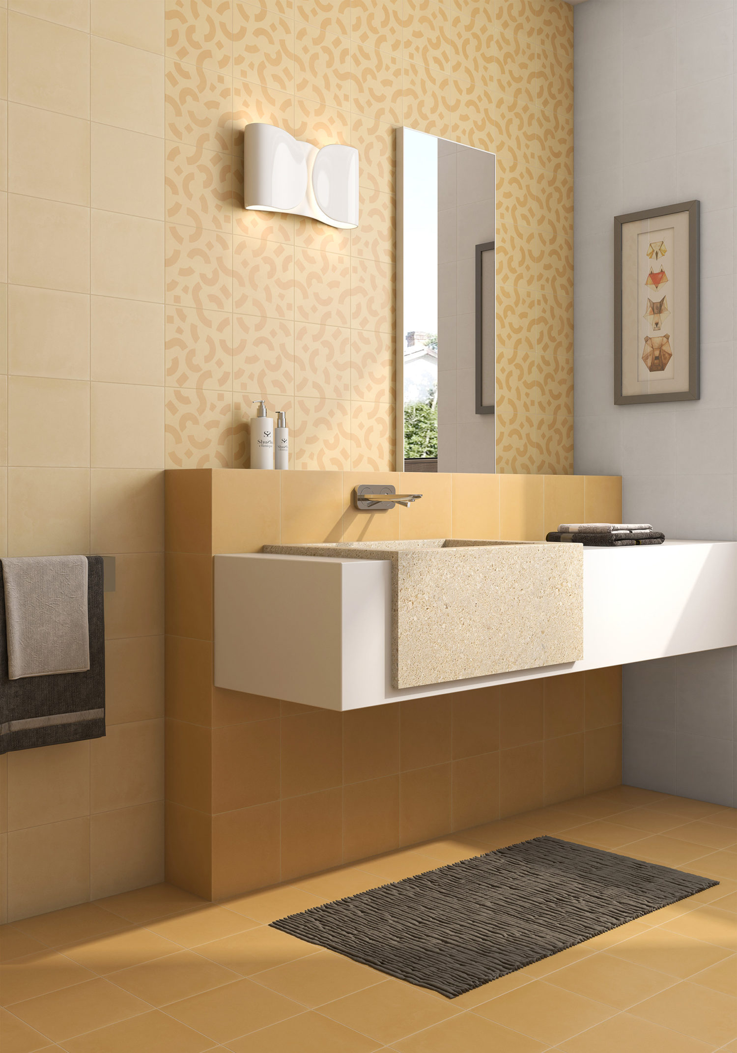 20 20 concept ocre mostaza cas armor c ramique. Black Bedroom Furniture Sets. Home Design Ideas