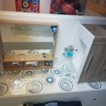 Vu sur la vasque 23.5x58 Glam Blanco et 23.5x58 Décors Pop Blanco