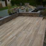 Terrasse sur plots 40x120 Chêne Silva C